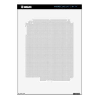 Falso gris de plata de lino clásico pegatinas skins para iPad 3