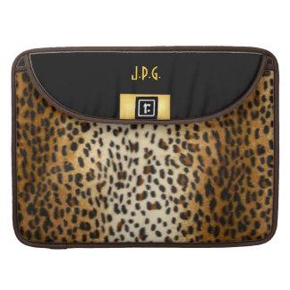 Falso guepardo con negro y mangas de Macbook del o Funda Macbook Pro