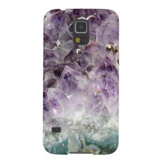 Falso inconformista cristalino amethyst de la foto funda galaxy s5
