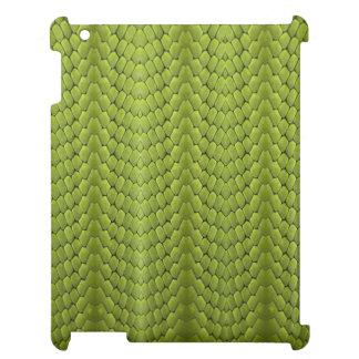 Falso iPad de la piel del pitón del verde esmerald