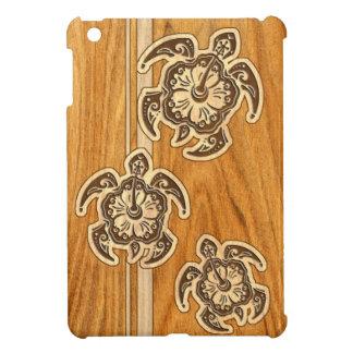 Falso iPad hawaiano de madera de la tortuga de