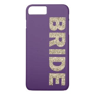 Falso iPhone 6 de la novia del brillo+ Caso en Funda iPhone 7 Plus