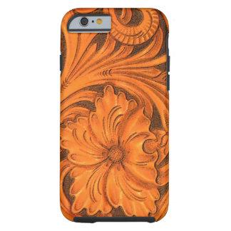 Falso iPhone de cuero equipado floral 6 Funda De iPhone 6 Tough