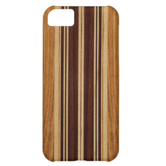 Falso Koa iPhone de madera de la tabla hawaiana de Funda Para iPhone 5C