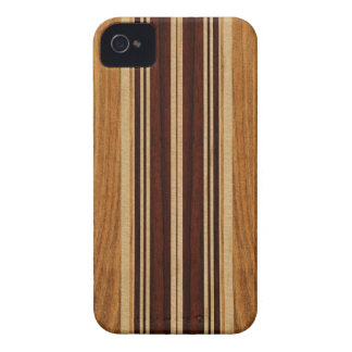 Falso Koa iPhone de madera de la tabla hawaiana de iPhone 4 Case-Mate Carcasas