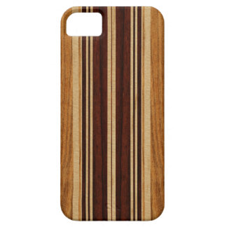 Falso Koa iPhone de madera de la tabla hawaiana de iPhone 5 Carcasas