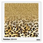 Falso leopardo de moda femenino lindo del brillo