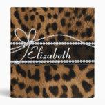Falso leopardo negro marrón femenino elegante de m