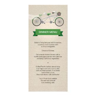 Falso lino de la bicicleta del verde del menú en t lonas personalizadas