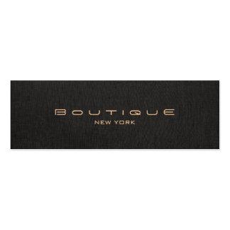 Falso lino negro del diseñador elegante elegante plantilla de tarjeta personal