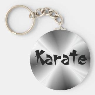 Falso llavero de plata del karate