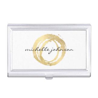 Falso logotipo pintado oro de lujo del diseñador cajas de tarjetas de visita