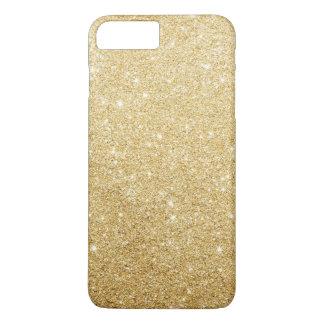 Falso lujo elegante del brillo del oro funda iPhone 7 plus