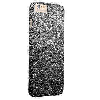 Falso lujo negro elegante del brillo funda barely there iPhone 6 plus