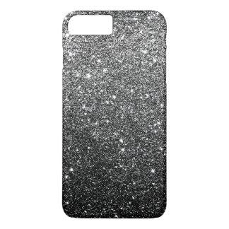 Falso lujo negro elegante del brillo funda iPhone 7 plus