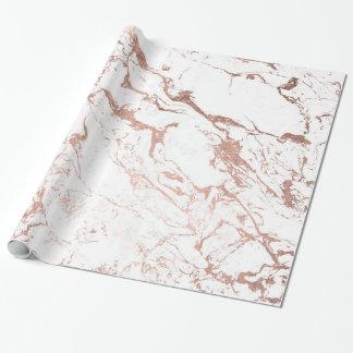 Falso mármol color de rosa elegante moderno del papel de regalo