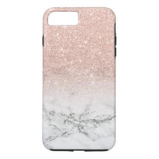 Falso mármol moderno del blanco del ombre del funda iPhone 7 plus