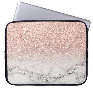 Falso mármol moderno del blanco del ombre del funda portátil
