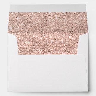 Falso mármol subió brillo de moda de las sobres