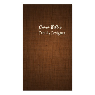 Falso marrón de lino del café express de tarjetas de visita