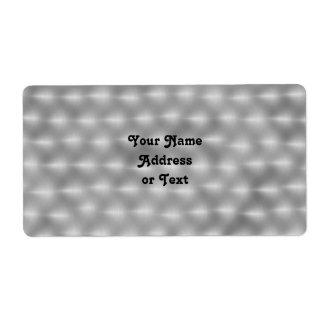 Falso metal - acero cepillado etiquetas de envío