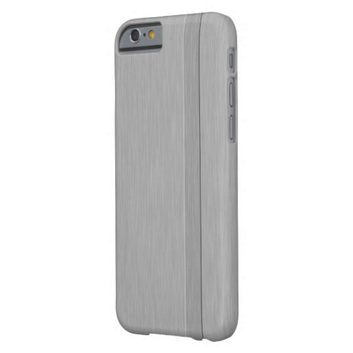 Falso metal cepillado con el caso delgado del funda de iPhone 6 barely there