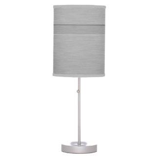 Falso metal cepillado con el surco lámpara de mesa