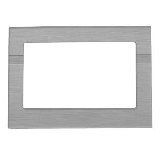 Falso metal cepillado con el surco marcos magnéticos para fotos