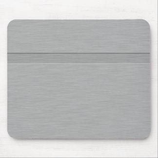 Falso metal cepillado con el surco tapete de raton