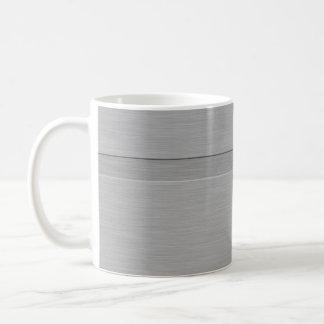 Falso metal cepillado con el surco taza