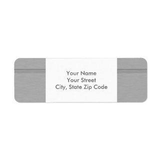 Falso metal cepillado con la etiqueta de dirección