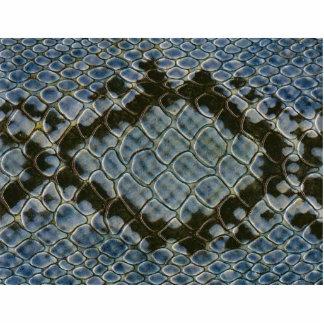 falso modelo azul del snakeskin horizontal escultura fotografica