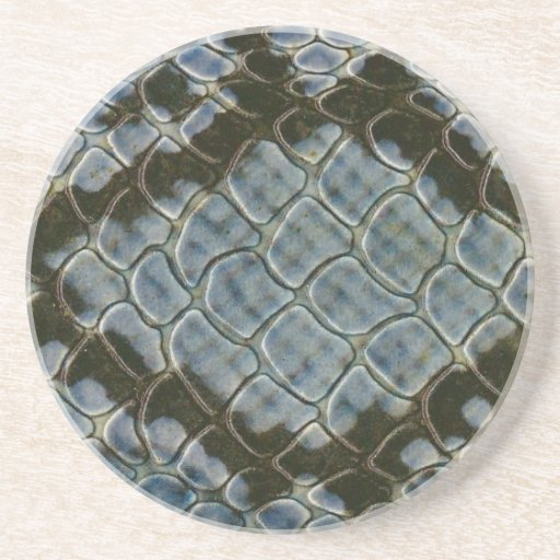 falso modelo azul del snakeskin horizontal posavasos para bebidas
