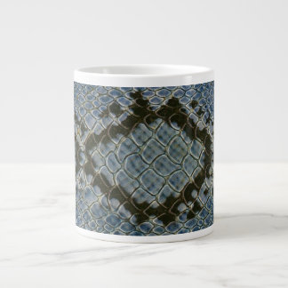 falso modelo azul del snakeskin horizontal taza grande