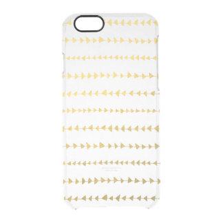 Falso modelo blanco de las flechas de la hoja de funda clearly™ deflector para iPhone 6 de uncommon