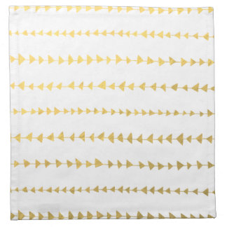 Falso modelo blanco de las flechas de la hoja de servilleta de papel