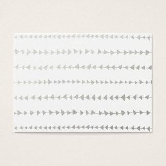 Falso modelo blanco de las flechas de la hoja de tarjetas de visita grandes