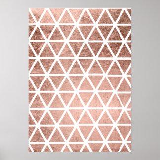 Falso modelo color de rosa geométrico de los póster