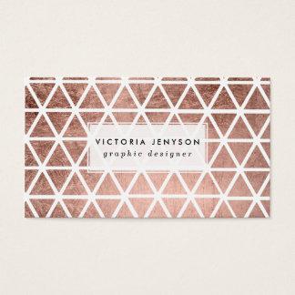 Falso modelo color de rosa moderno de los tarjetas de visita