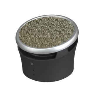 Falso modelo de la fan del círculo del negro de la altavoz bluetooth