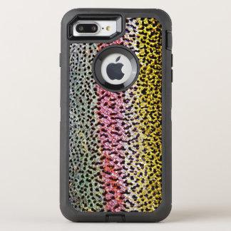 Falso modelo de la mirada de la textura de la funda OtterBox defender para iPhone 7 plus