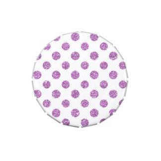 Falso modelo de lunares del brillo de la lavanda jarrones de dulces