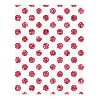Falso modelo de lunares rosado del brillo en tarjeton