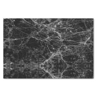 Falso modelo de mármol moderno blanco y negro papel de seda pequeño