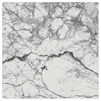 Falso modelo de mármol moderno blanco y negro telas