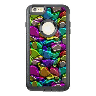 Falso modelo de mosaico metálico grabado en funda otterbox para iPhone 6/6s plus