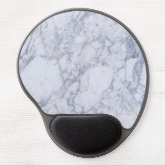 Falso modelo de piedra de mármol blanco realista alfombrillas con gel
