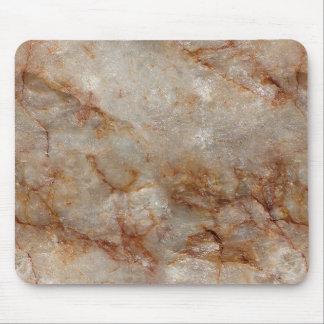 Falso modelo de piedra de mármol realista de Brown Alfombrillas De Ratón