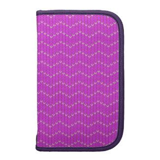 Falso modelo de zigzag hecho punto púrpura del planificadores