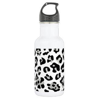 Falso modelo del estampado leopardo del negro de